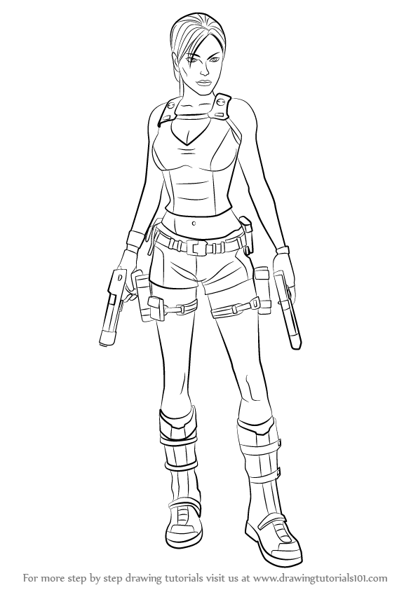 Learn How to Draw Lara Croft Characters
