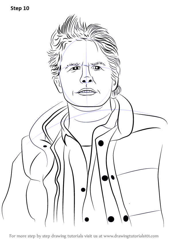 Learn How To Draw Marty Mcfly Characters Step By Step