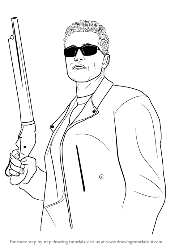 Learn How to Draw Arnold Schwarzenegger as The Terminator
