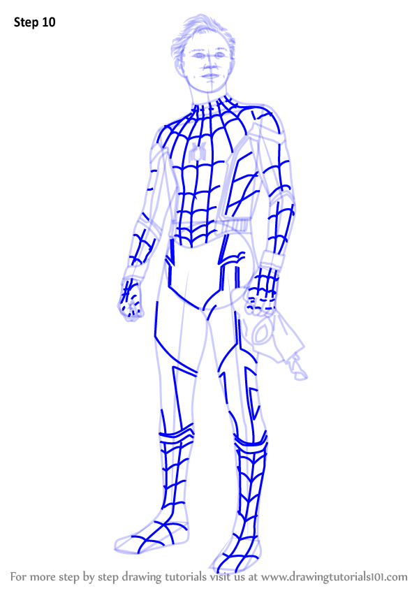 Learn How To Draw Tom Holland As Spider Man Characters