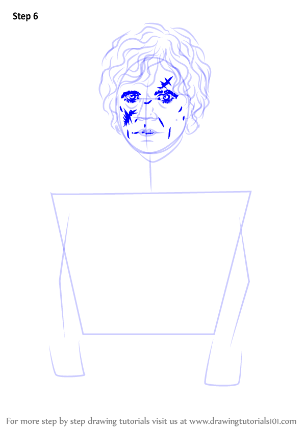 Step by Step How to Draw Tyrion