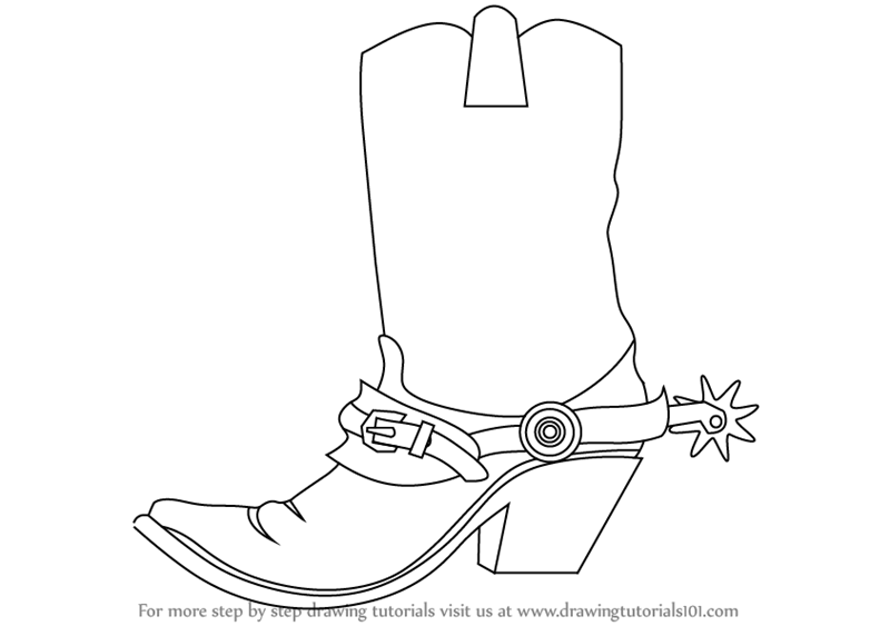 learn how to draw cowboy boots cowboys step by step drawing tutorials