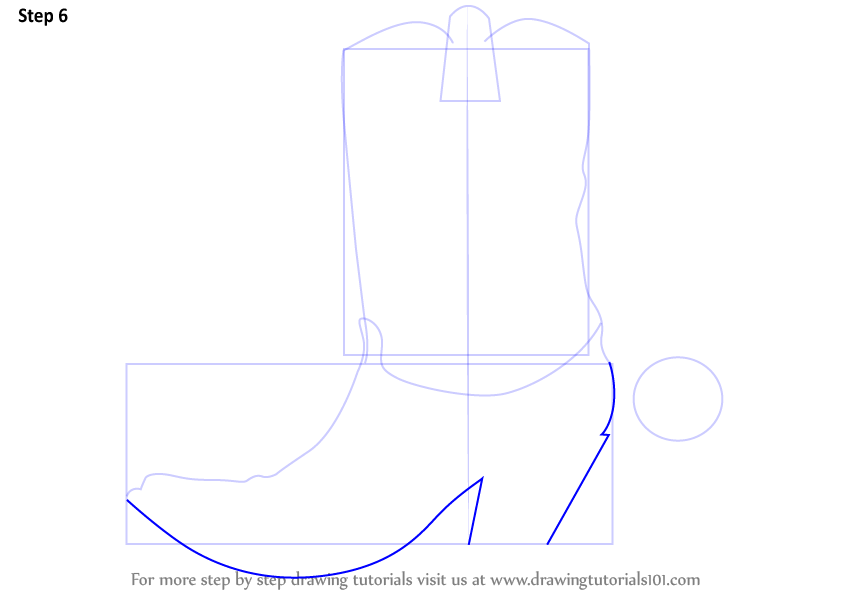 Learn How To Draw Cowboy Boots Cowboys Step By Step Drawing