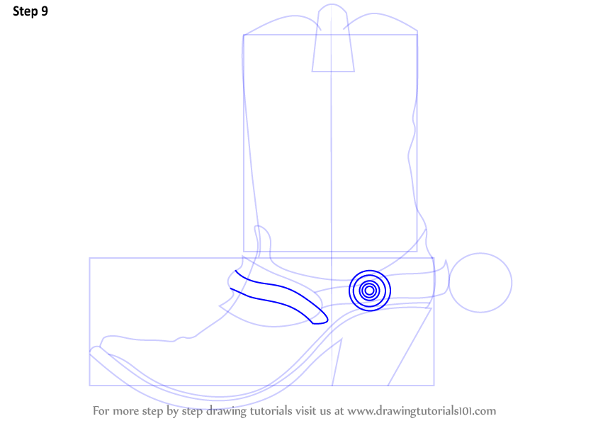 Learn How to Draw Cowboy Boots (Cowboys) Step by Step ... | 844 x 594 png 32kB