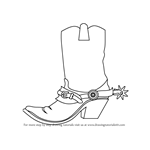 How to Draw Cowboy Boots