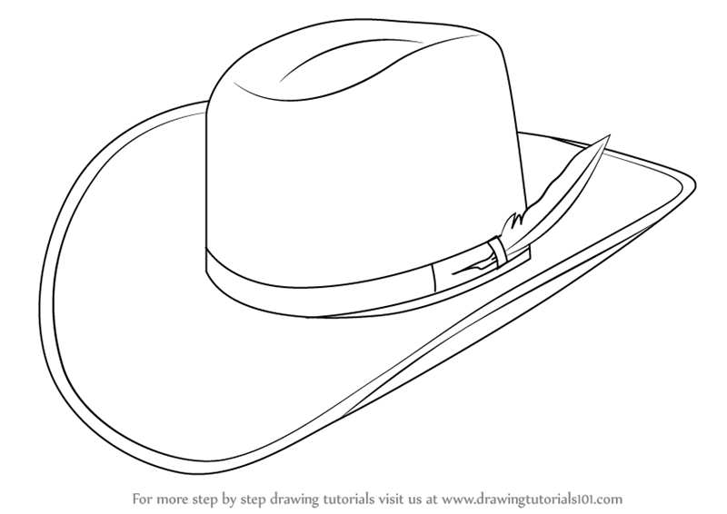 learn how to draw cowboy hat cowboys step by step