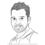 How to Draw Rohit Sharma
