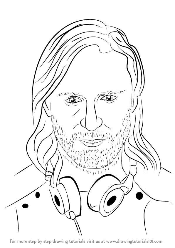 learn how to draw david guetta djs step by step