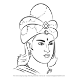 How to Draw King Ashoka