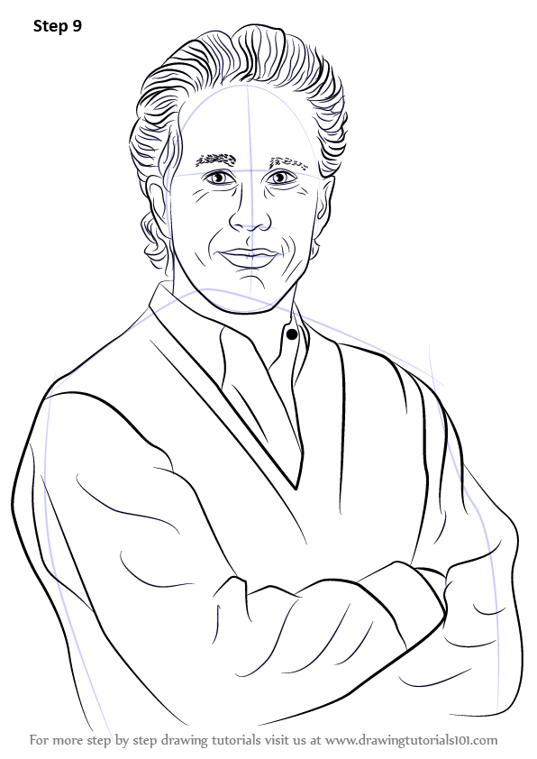 Learn How To Draw Jerry Seinfeld Entertainers Step By