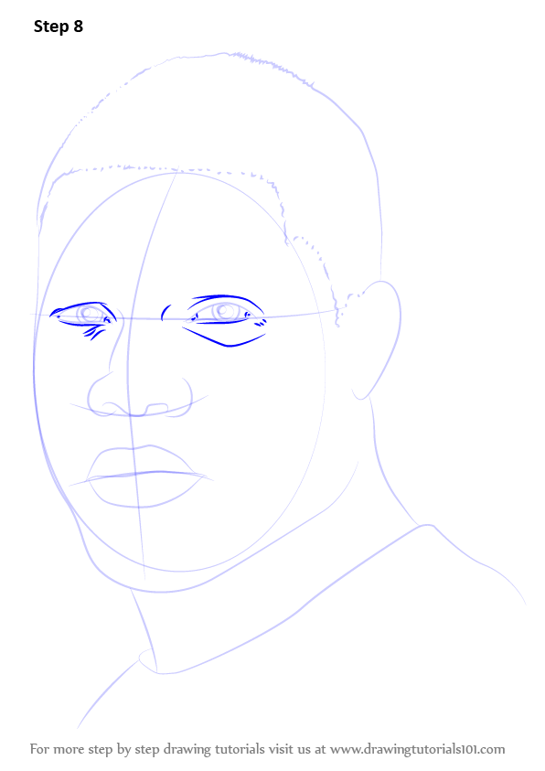 learn how to draw kevin hart  entertainers  step by step   drawing tutorials