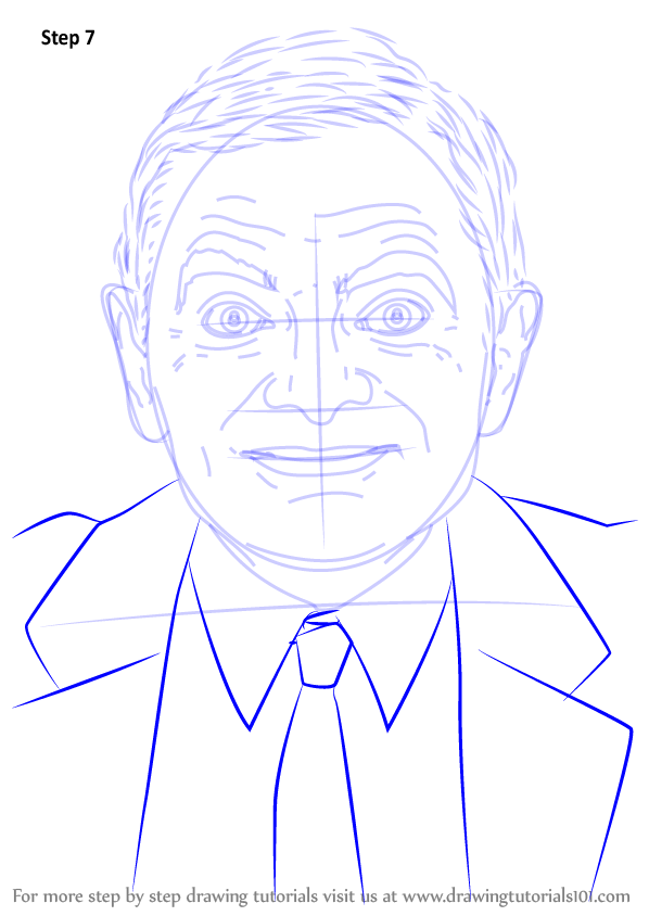 Learn How To Draw Mr Bean Entertainers Step By Step