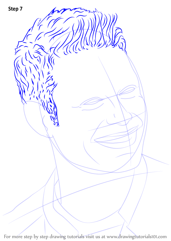 Learn How To Draw Ryan Seacrest  Entertainers  Step By