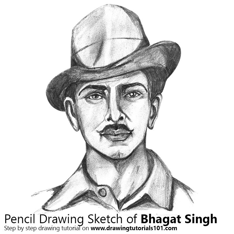 Easy Pencil Sketches Of Bhagat Singh