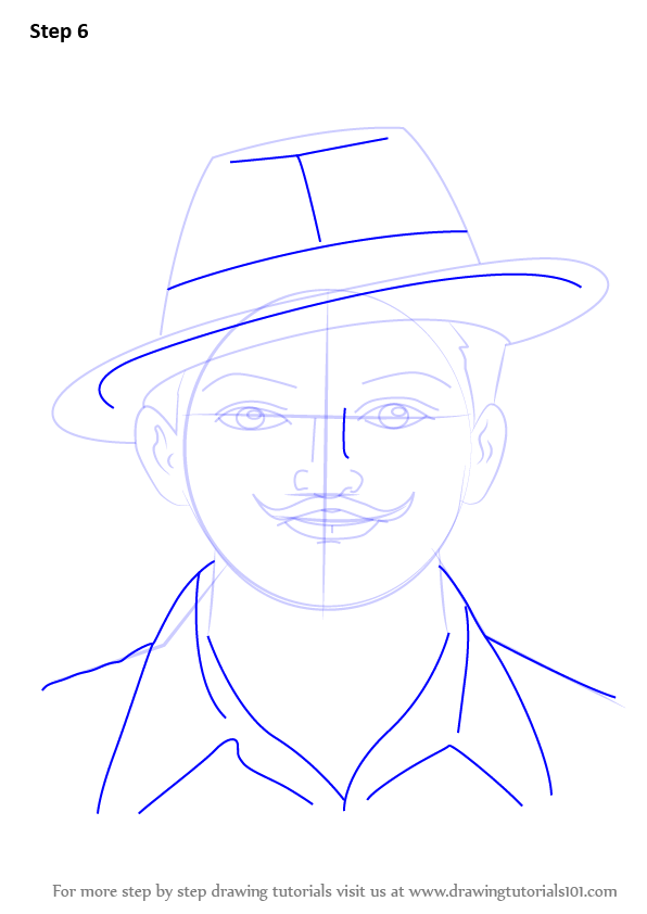 Learn How To Draw Chandra Shekhar Azad Famous People