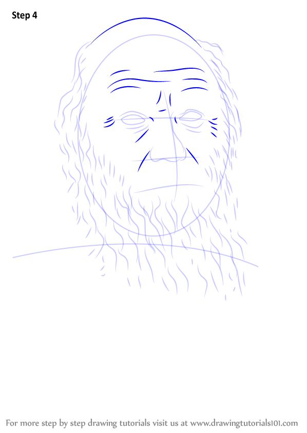 Step by Step How to Draw Charles Darwin ...