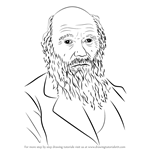 How to Draw Charles Darwin