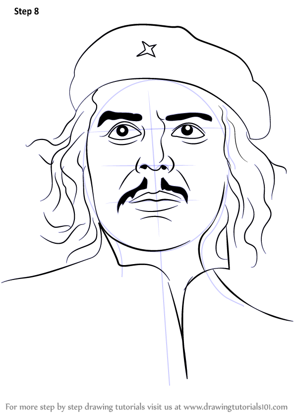 Learn How To Draw Che Guevara Famous People Step By Step