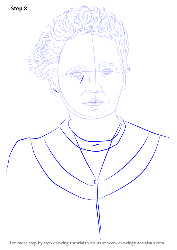 Learn How To Draw Marie Curie Famous People Step By Step