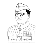 How to Draw Subhash Chandra Bose