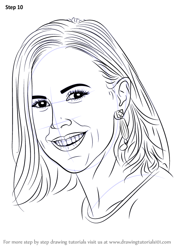 Learn How to Draw Tory Burch (Famous People) Step by Step ...