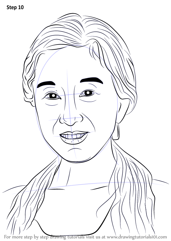 Learn How To Draw Vera Wang  Famous People  Step By Step