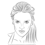 How to Draw Alessandra Ambrosio