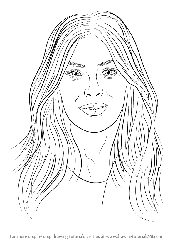Step By Step How To Draw Kim Kardashian