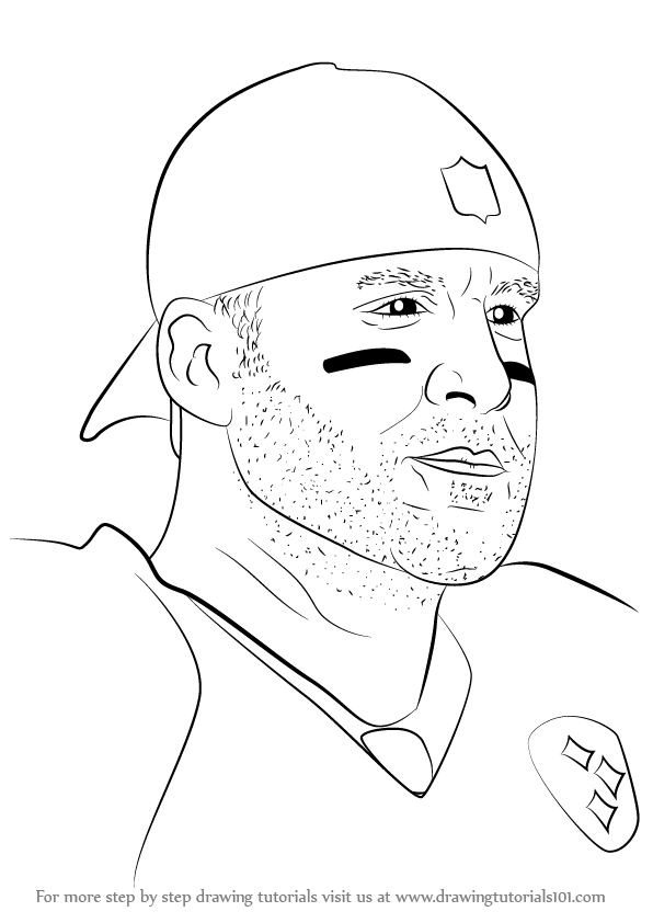 Step By Step How To Draw Ben Roethlisberger