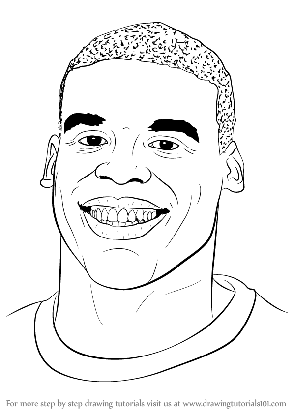 Learn How to Draw Cam Newton (Footballers) Step by Step : Drawing ...