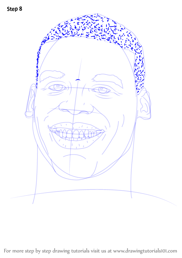 learn how to draw cam newton  footballers  step by step   drawing tutorials