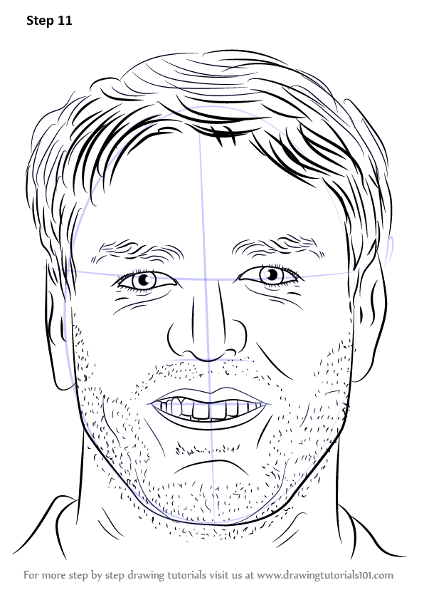 how to draw messi step by step easy
