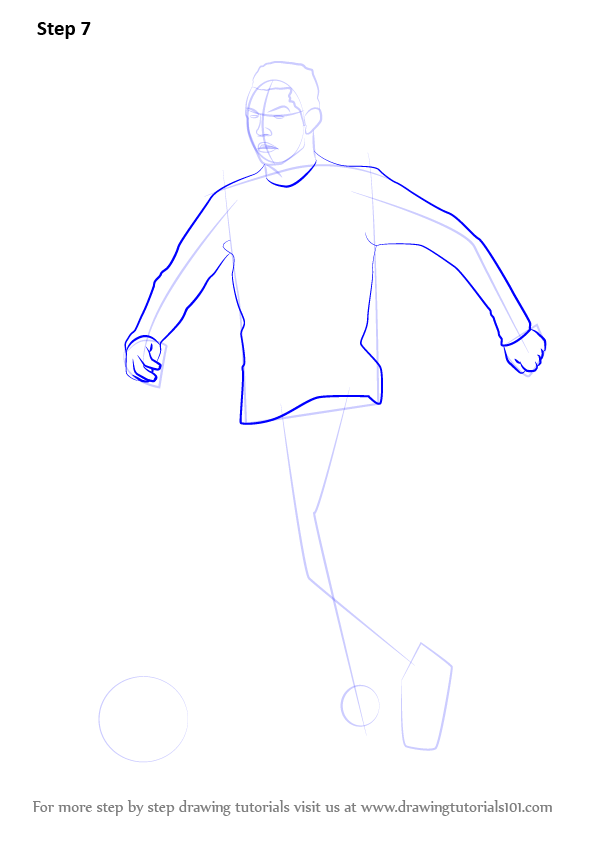 Learn How To Draw Cristiano Ronaldo Footballers Step By