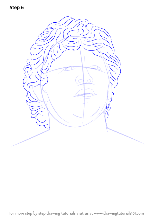 Learn How to Draw Diego Maradona (Footballers) Step by ...
