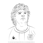 How to Draw Diego Maradona