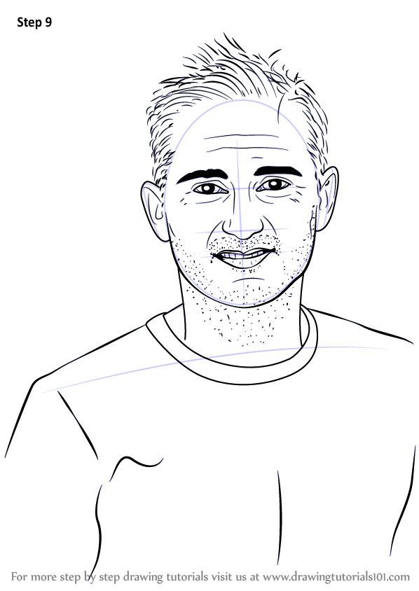 Learn How to Draw Frank Lampard (Footballers) Step by Step ...