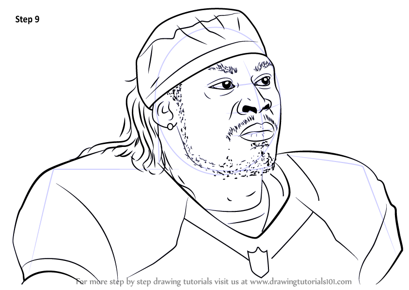Learn How to Draw Marshawn Lynch