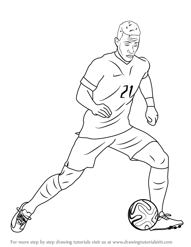 learn how to draw memphis depay footballers step by step drawing tutorials