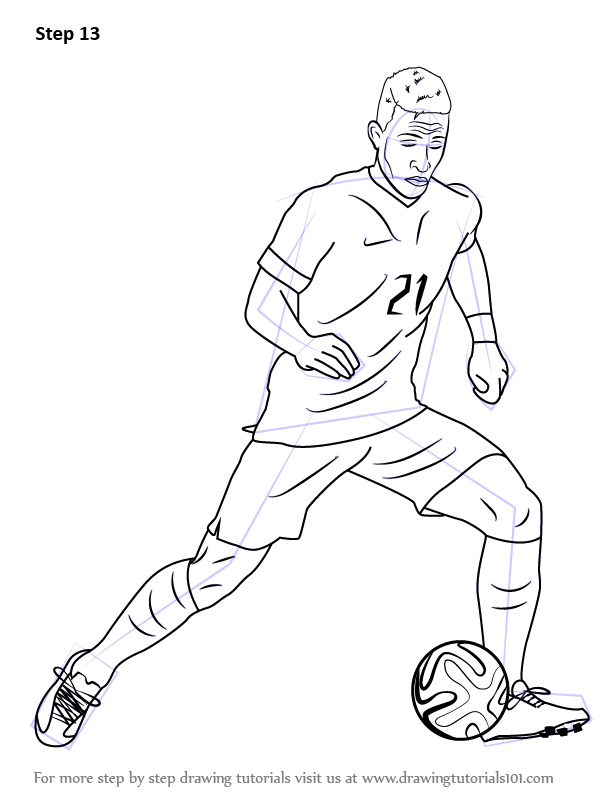 It's just a graphic of Impertinent Drawing Soccer Players