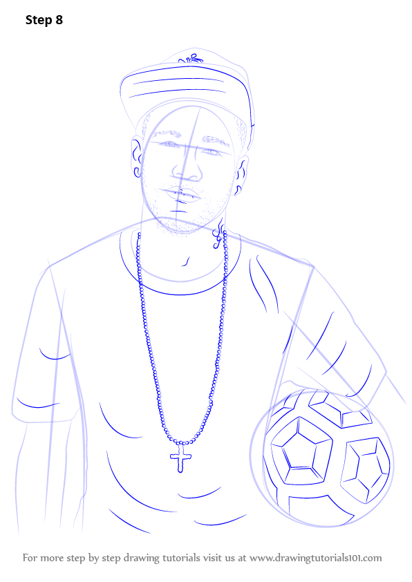 Step By Step Decorating Living Room: Learn How To Draw Neymar Jr. (Footballers) Step By Step