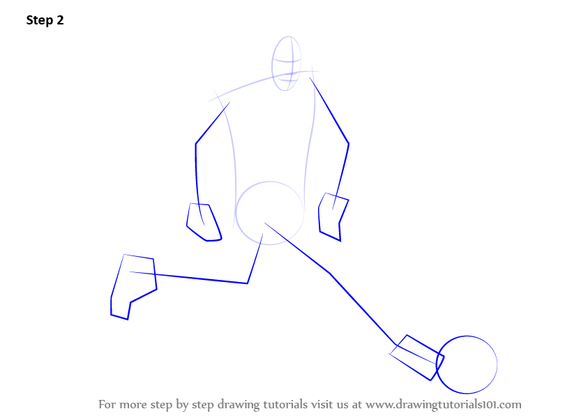 how to draw neymar face step by step