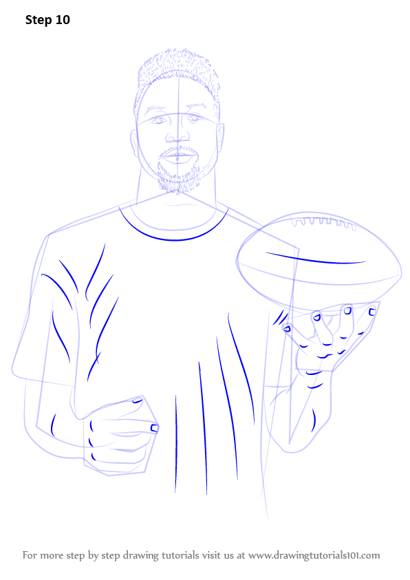 Learn How to Draw Odell Beckham Jr. (Footballers) Step by Step ...