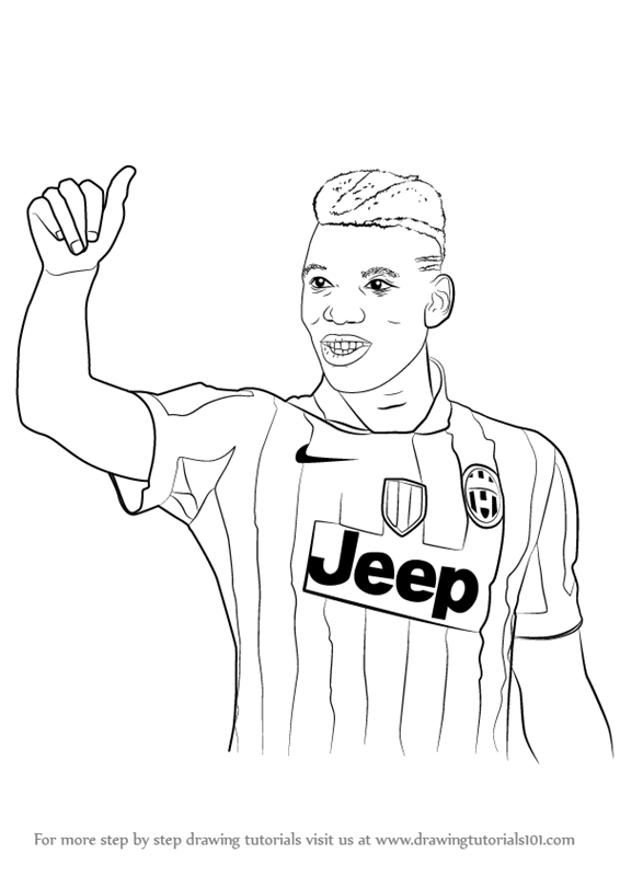 Pogba Free Coloring Pages