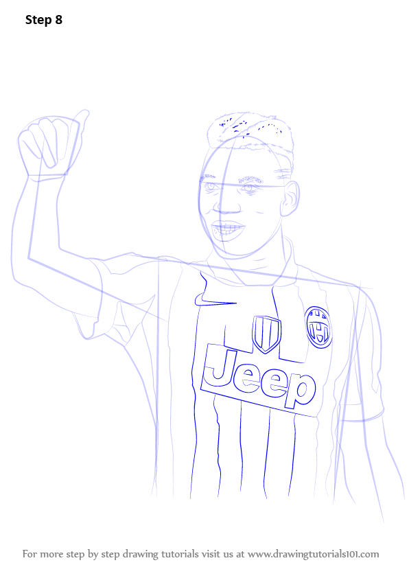 Learn How To Draw Paul Pogba Footballers Step By Step