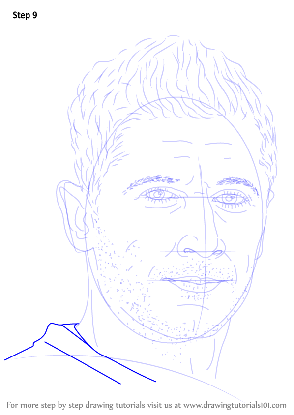 Learn How To Draw Robert Lewandowski (Footballers) Step By