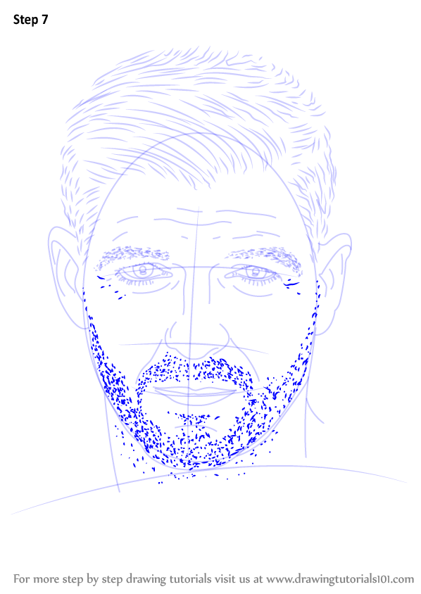 Step By Step How To Draw Steven Gerrard