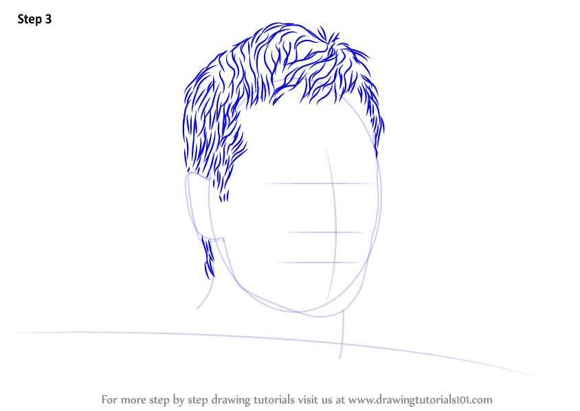 Step By Step How To Draw Tom Brady Drawingtutorials101 Com