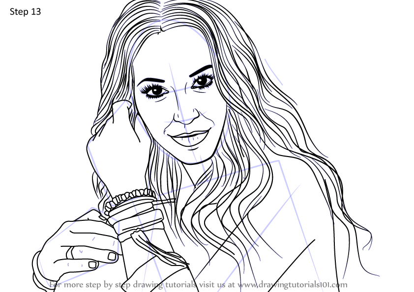 Learn How To Draw Lauren Daigle Gospel Singers Step By