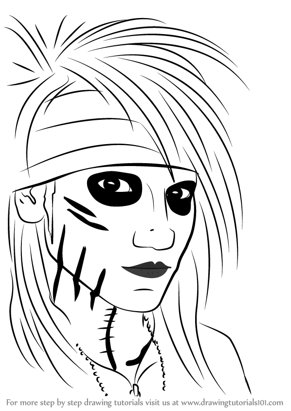 learn how to draw ashley purdy  musicians  step by step