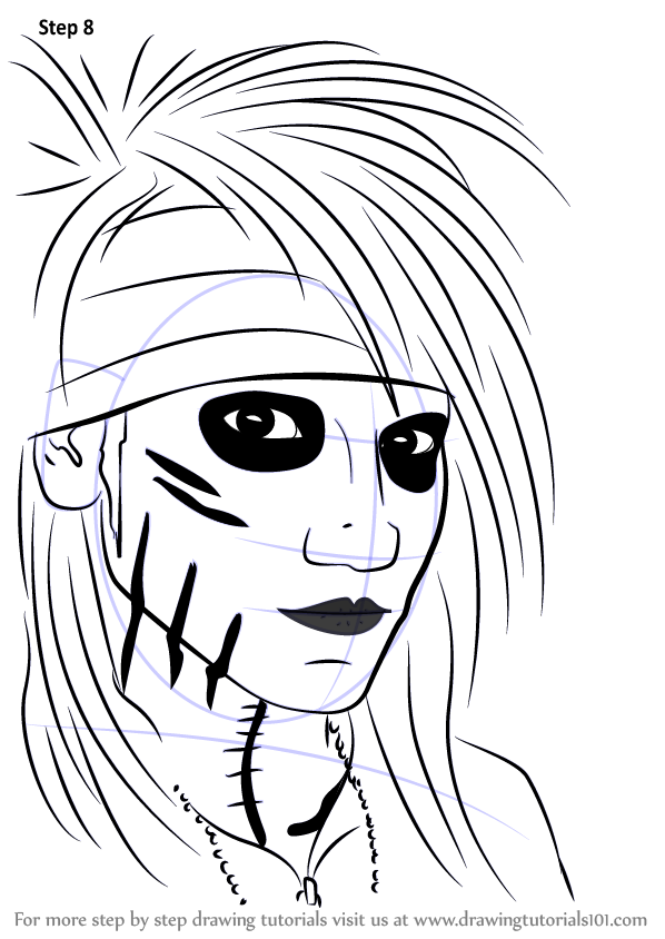 learn how to draw ashley purdy  musicians  step by step   drawing tutorials